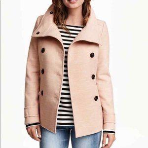 H & M Blush Pea Coat